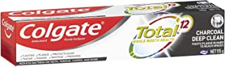 Colgate Total Charcoal Deep Clean Antibacterial Fluoride Whole Mouth Health Multi Benefit Toothpaste 115g