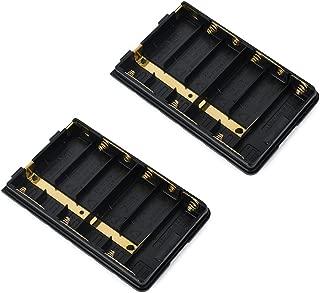 HYS Standard Alkaline Battery Case for Yaesu/Vetex FT-270R, Ft-60R, Ft-277, VX-170, FT-250R, VXA-220 (2 Packs)