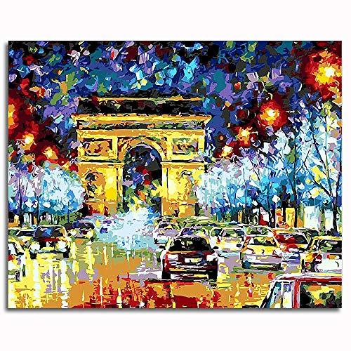 BOVIENCHE Mini Rompecabezas para Adultos 1000 niños año Rompecabezas Casual clásico Moderno decoración del hogar 38x26 cm (Arco del Triunfo)