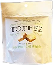 Mrs. Weinstein's Toffee Squares 3 Oz! Milk Chocolate Pecan Gourmet Toffee! All-Natural And Made with 100% Real Chocolate! Handcrafted In USA! Choose Your Flavor! (White Chocolate Pecan)