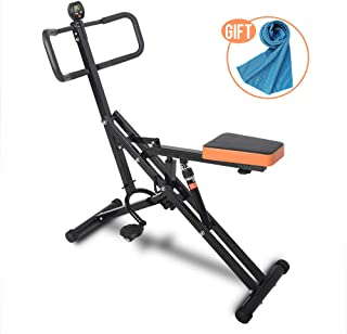 Semper Total Crunch Exercise Machine, Ab Crunch, Horse Riding Machine, Folding Full Body Fitness Horse Riding Exerciser Trainer with LED Monitor