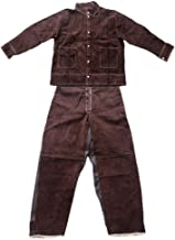 Almencla Cowhide Welding Jacket Apparel Trousers Protective Suits Work Clothing