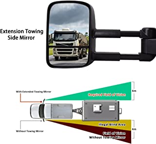 Facaimo Left+Right Tow Side Mirror Extend Telescoping Manual for Ford F-150 F150 97-03