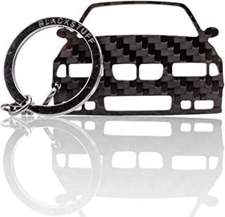 BlackStuff Carbon Fiber Keychain Keyring Ring Holder Compatible with Boxster Cayman 981 2012-2016 BS-635