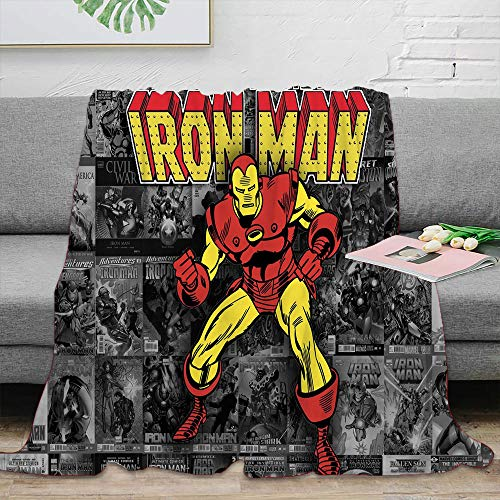 Iron Man The Avengers Superhero Printed Bedding Blanket Lightweight Blanket Cozy Luxury Bed Blanket 50 x 40 inch