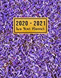 2020-2021 Two Year Planner: 2 year monthly planner 2020-2021 | Purple Floral Cover | 2 Year Calendar 2020-2021 Monthly | 24 Months Agenda Planner with ... , Jan 2020 to Dec 2021 ) For Women , Mom