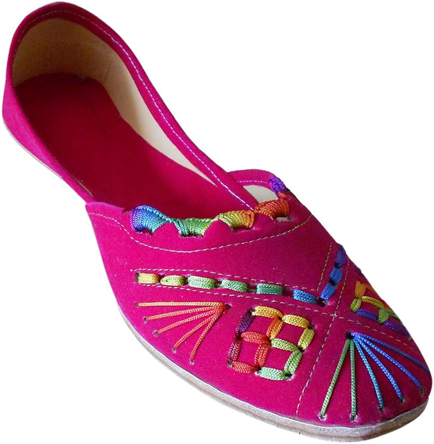 Kalra Creations Mojari Women's Traditional Indian Velvet with Embroidery Ethnic shoes