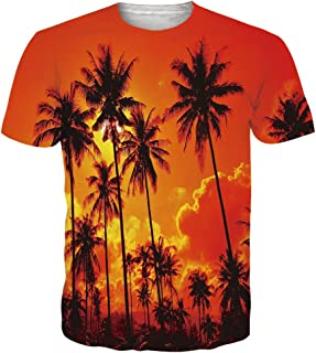 Unisex Casual 3D Pattern Printed Short Sleeve T-Shirts Top Tees