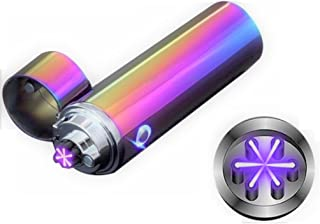 Novelty Wares® Latest Design Triple ARC Innovative Flameless Plasma X Beam Lighter-Rechargeable-Restructured-Pipes-Bowls-Cigars-Camping-Windproof-Waterproof-360° (Neon)