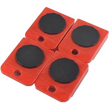 Kit de D/éplacement de Meuble Sans Effort Charge max 150 kg 1 Levier et 4 Patins 360/°