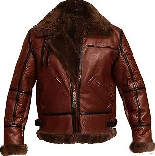Best pilot leather sheepskin jacket Reviews