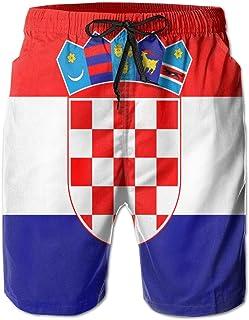 K-Dark 2000px-Flag_of_Croacia.SVG - Bañador Corto para Hombre, Blanco, XX-Large