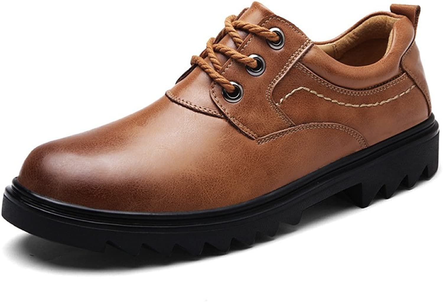 DHFUD Men Gentleman Business Fashion Breathable Non-Slip Lightweight Outdoor Leather shoes
