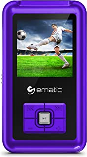 Ematic Ematic EM208VIDPR 8GB MP3 Video Player with FM Tuner/Recorder and 1.5-inch Color Screen, Purple