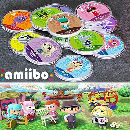 SOAREO 24 pezzi ACNH NFC tag mini carte da gioco villico ruolo raro per animal crossing New Horizons Switch   Switch Lite   Wii U, con scatola di cristallo.
