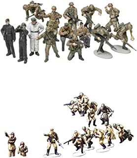 2 Sets of Tamiya Military Assembly Models - WW2 Infantry - Russians with Tank Crew and German Panzer Grenadier (Japan Import)