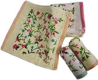 GRAPPLE DEALS Women's Girls Handkerchiefs Vintage Floral Print Blossom Flower Cotton Towel Soft Hankey. 25Cm*25 cm (Multicolor)