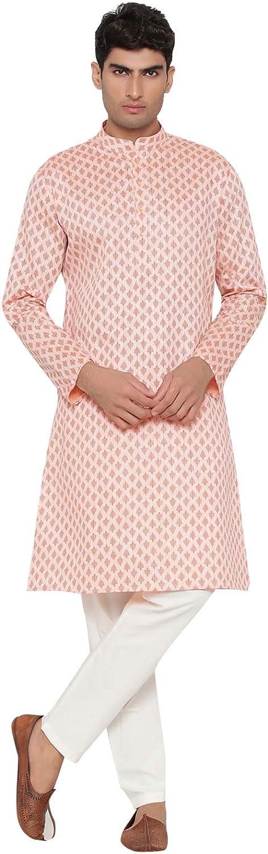 ELINA Daily bargain sale FASHIONMen's Satin Cotton Kurta Pajama Set Tunic Cheap super special price India