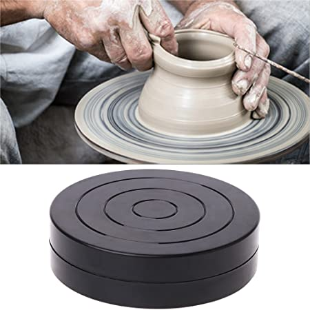 Metal Pottery Wheel Rotating Table Turntable 23mm Clay Sculpture Swivel Plat