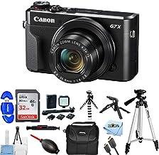 "Canon PowerShot G7 X Mark II Digital Camera 1066C001 Bundle with 32GB SD, LED Light Kit, 57"" Tripod, 8"" Gripster and More [International Version]"