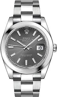 Men's Rolex Datejust 41 Dark Rhodium Dial Oystersteel Watch (ref. 126300)