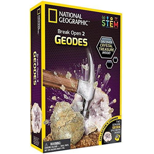 National Geographic 80478 Break Open 2 Real Geode