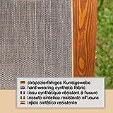 Relax Schaukelstuhl Rio, Relaxliege mit Armlehnen, Gartenmöbel aus vorbehandeltem Holz - 8