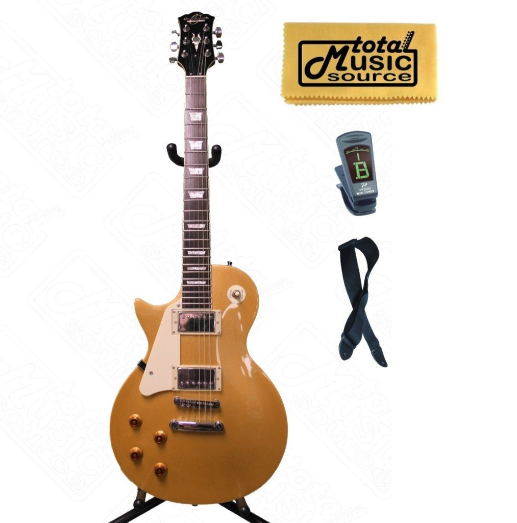 Cheap Oscar Schmidt LEFT HAND LP Style Electric Guitar Solid Body Gold OE20GLH Black Friday & Cyber Monday 2019