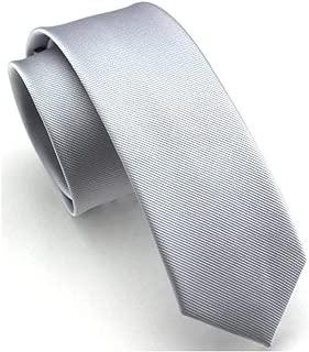 Mens Super Skinny Solid Color Ties Classic Eco-friendly Slim cut Neckties 2.4