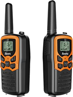 Rivins RV-7 Walkie Talkies for Kids Long Range 2 Pack 2-Way Radios Up to 5 Miles Range in Open Field 22 Channel FRS/GMRS K...