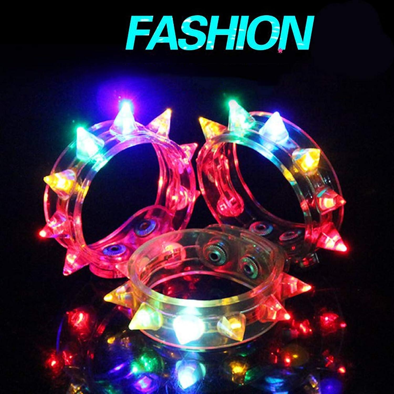 WINOMO 光るブレスレット クリスタルブレス バングル LED フラッシュ 光るおもちゃ 腕輪 バンド コンサート用 ライト クリスマス お祭り ハロウィン 誕生日 パーティー ファン 1個入り(ランダムカラー)