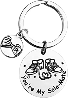 ENSIANTH Couple Keychain You're My Sole-Mate Gift for Boyfriend Girlfriend Soulmate Gift