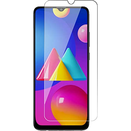 POPIO Tempered Glass Screen Protector Compatible for Samsung Galaxy M42 5G / M12 / M02s / M02 / A02s with Full Screen Coverage (Except Edges) and Easy Installation kit (Transparent)