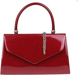 Girly Handbags Brillante bolso de la manija superior llana
