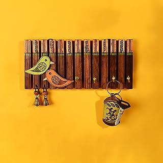 Aakriti Art Creations Bird Design Key Holder for Wall Décor (4 Hooks)