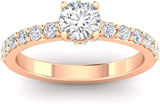 1.00ctw Diamond Solitaire Engagement Ring in 14k Rose Gold (1.00ctw, H-I, I2-I3)