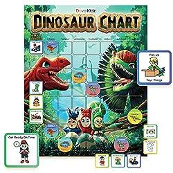 5. Dava Kidz Dinosaur Magnetic Chore Chart for Kids