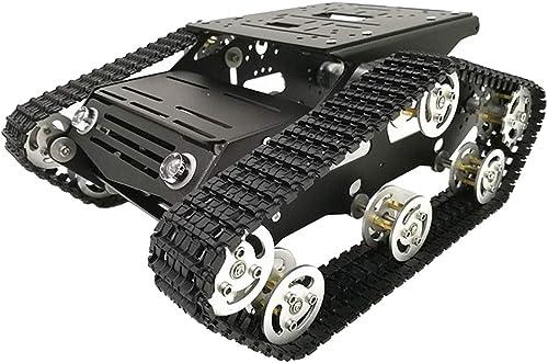 F Fityle 1x Y100 Roboter Tankwagen Chassis Ersatz Mechanische Struktur Roboter DC 12 V DIY Kit