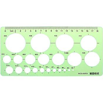 strumento di misurazione per studenti Righello geometrico in plastica verde ovale Selma