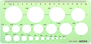 YOUSIKE Geometric Template Ruler Stencil, Circles Template Stencil Measuring Tools, Plastic Clear Green Drawing Rulers