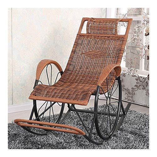Muebles para el Hogar Mecedora de Mimbre Simple Silla Silla de jardín Mecedora salón for Adultos...