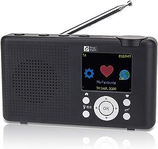 Ocean Digital WR23D Radio Internet portátil Dab/Dab + Pantalla LCD a Color de 2,4 Pulgadas Batería Recargable Wi-Fi Blueto...