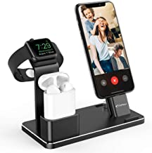 YoFeW Aluminum Alloy Charging Stand Compatible with iWatch Apple Watch Charging Stand for AirPods, iWatch Series 5/4/3/2/1,iPhone Xs/X Max/XR/X/8/8Plus/7/7 Plus /6S /6S Plus/iPad