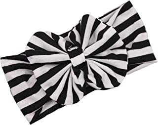 DZT1968(TM) Baby Girl Newest Stripe Bowknot Turban Headband Head Wrap Knotted Hair Band