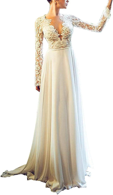 Fanciest Women's Vintage Lace Wedding Dresses 2017 Long Sleeves Wedding Dress