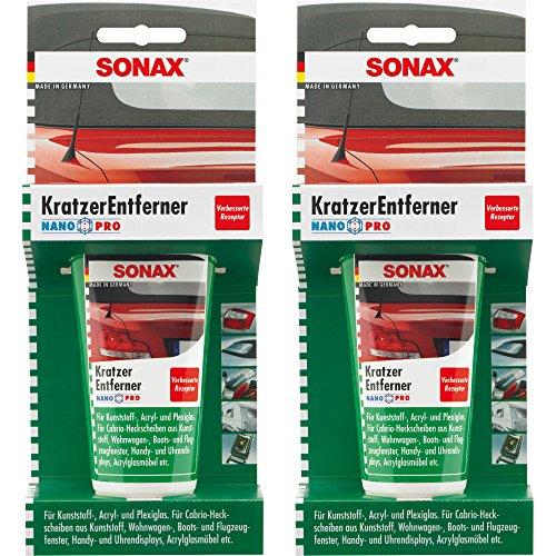 2x 75ml SONAX KRATZERENTFERNER KUNSTSTOFF NANOPRO KRATZER ENTFERNER POLITUR