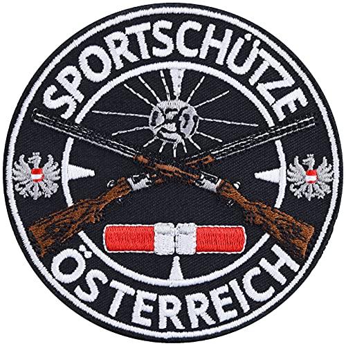 Parche de protección de Austria para coser o planchar, diseño de escudo de Austria, 90 x 90 mm