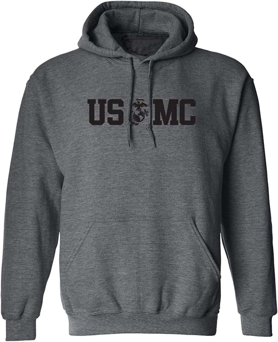 USMC Eagle Globe Anchor Adult Hooded Sweatshirt