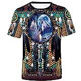 Men's Crewneck T Shirt Ethnic Tribal Paisley African Dashiki Printed 3D Summer Tee Tribal Short Sleeve Beach Blouse Tops