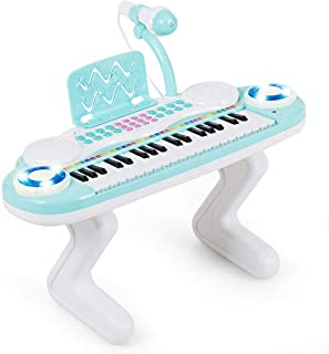 Costzon 37-Key Keyboard Piano for Kids with Detachable Legs,